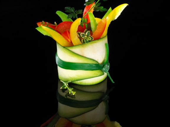 Zucchini Wrapped Peppers