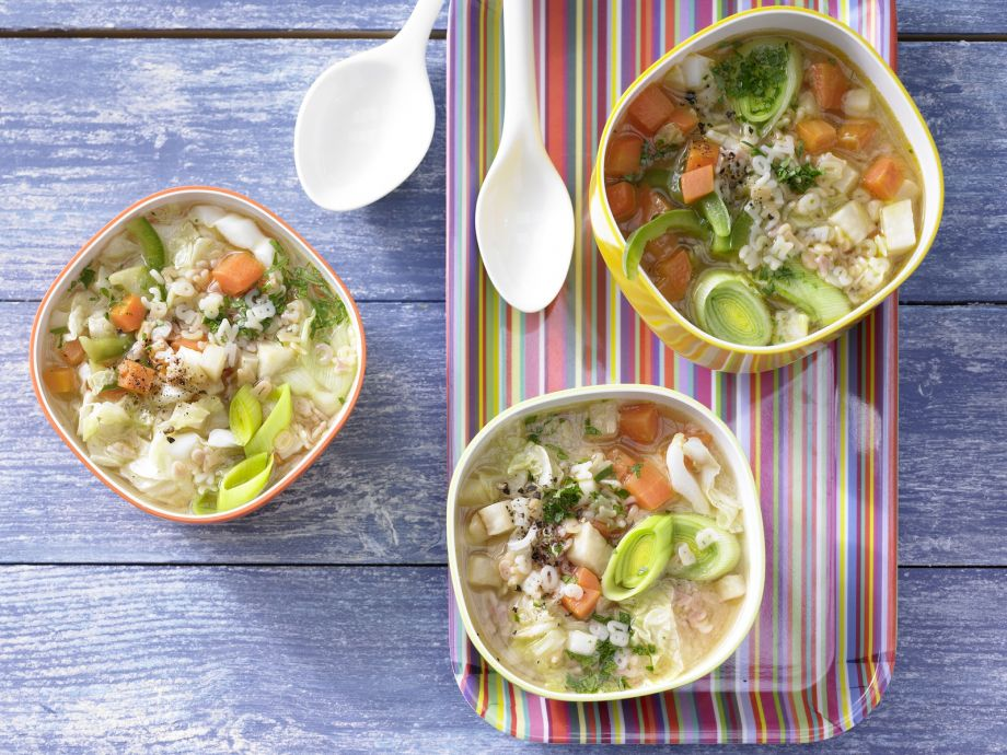 Alphabet Vegetable Soup - Alphabet Vegetable Soup - Culinary childhood memories for your spoon