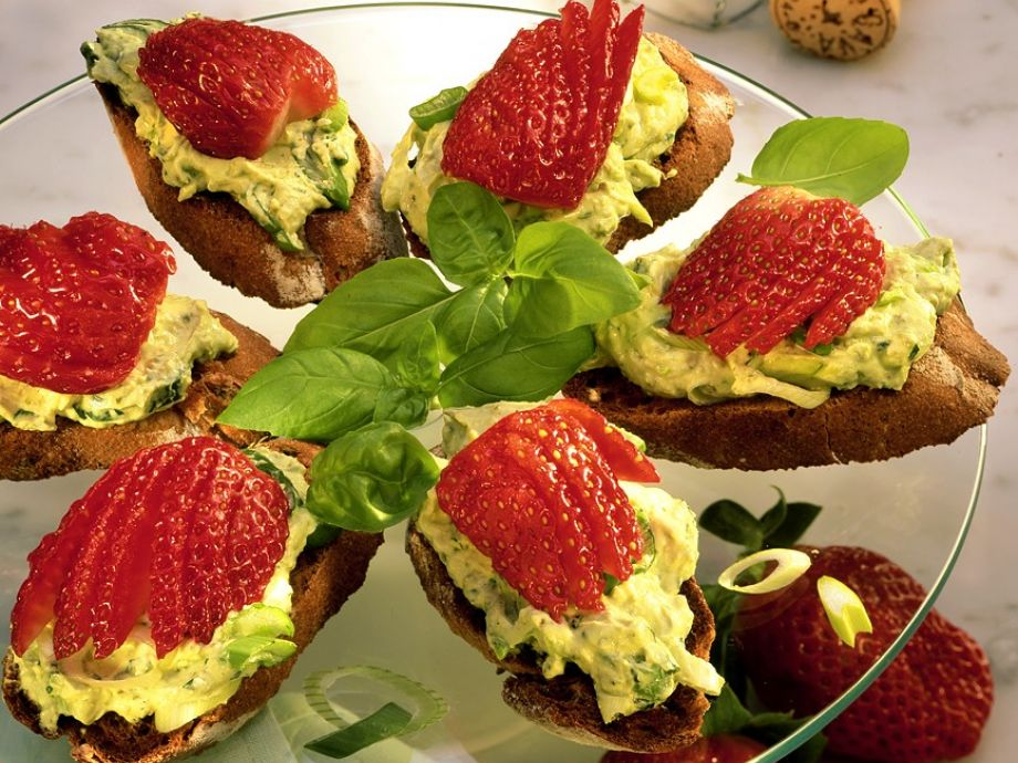 Avocado and Strawberries on Toast