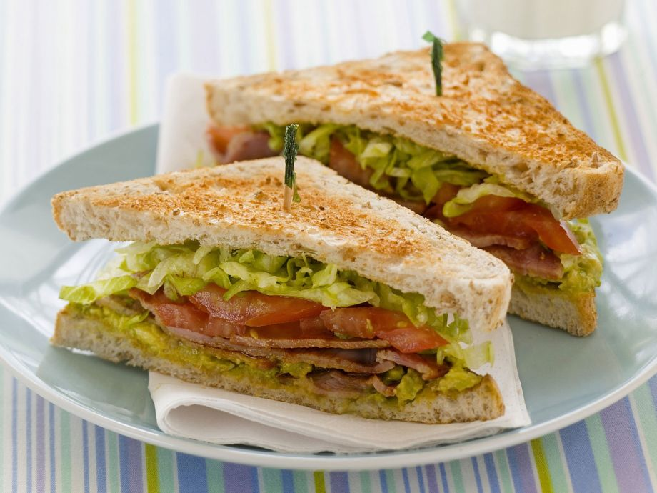Bacon, lettuce and tomato toasted sandwich
