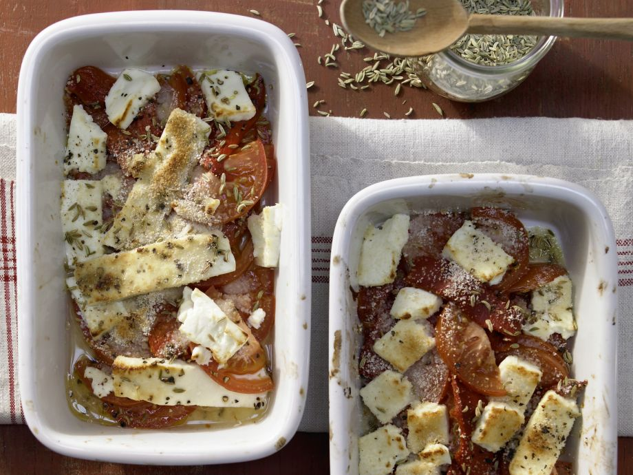 Baked Feta Cheese - Particularly spicy version of the classic Greek appetizer