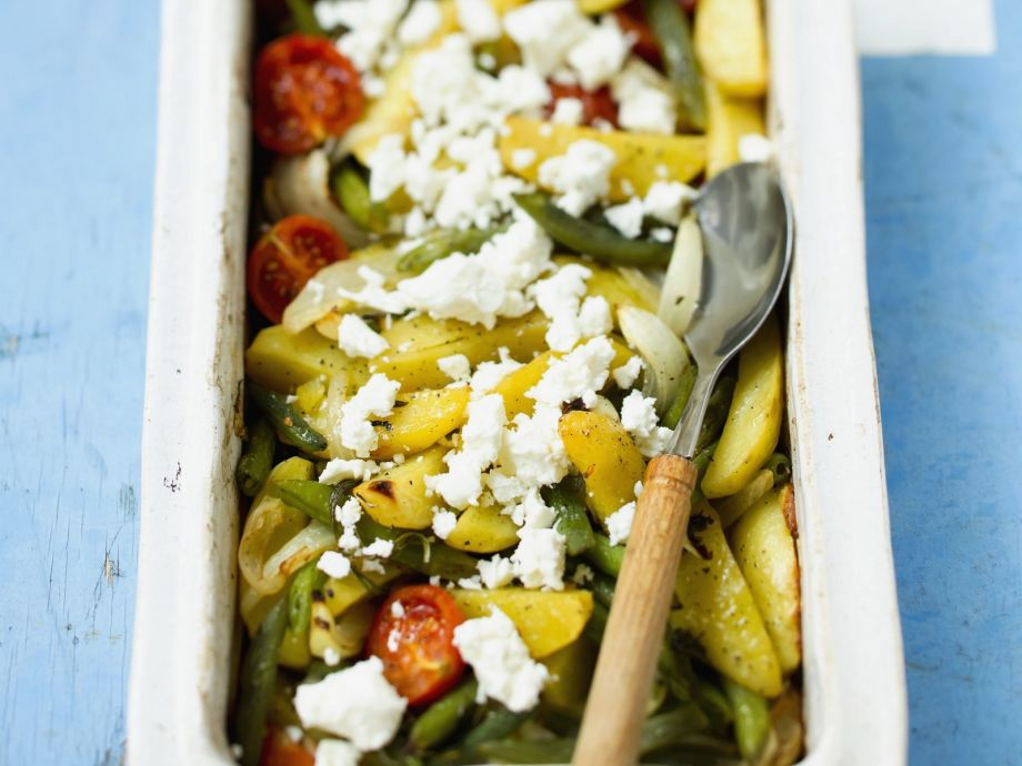 Baked Greek Vegetables with Feta Cheese
