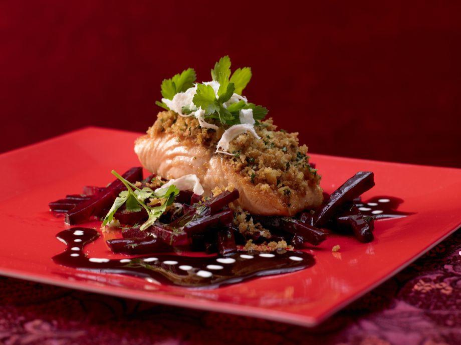 Baked Salmon Fillets - Baked Salmon Fillets - A subtly seductive pink-red fish dish