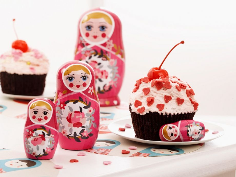 Baltic-style cherry cakes