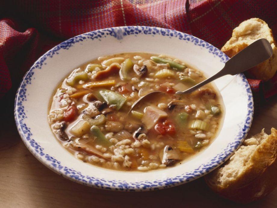 Barley Grain Vegetable and Turkey Soup