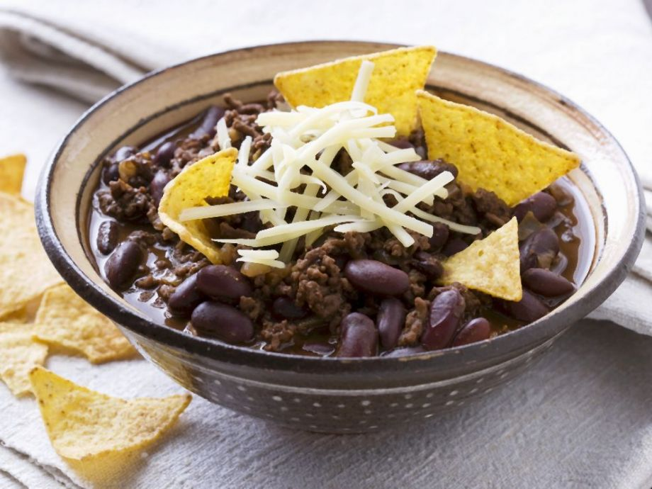 Beef Chili with Tortilla Chips