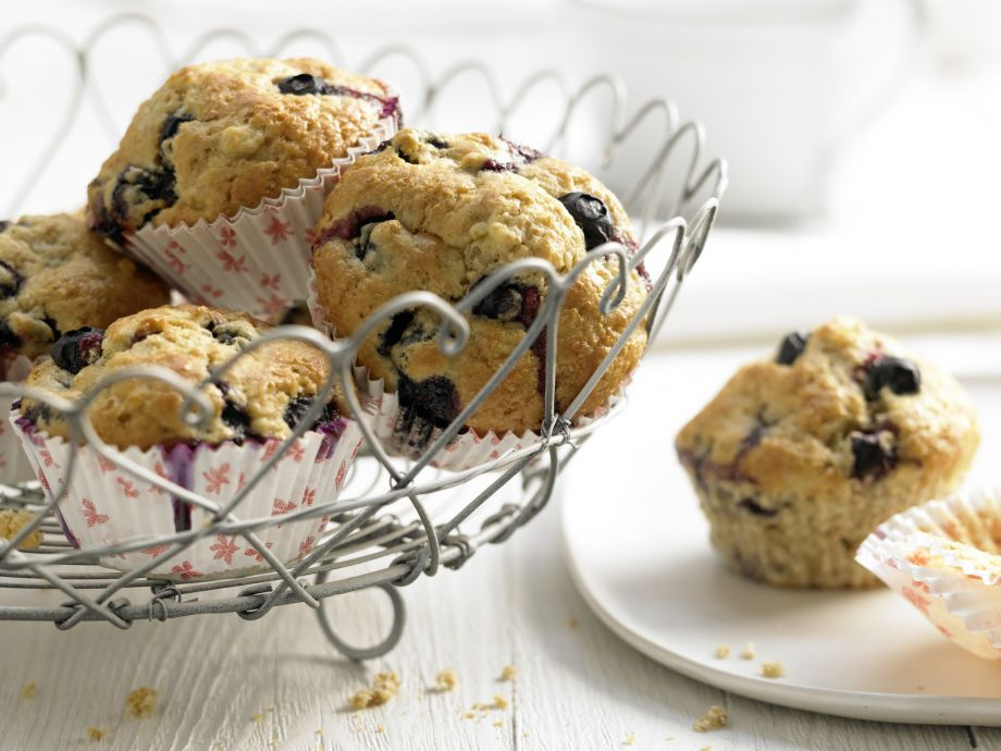 Blueberry Banana Muffins - Blueberry Banana Muffins - Brighten up your breakfast or coffee break