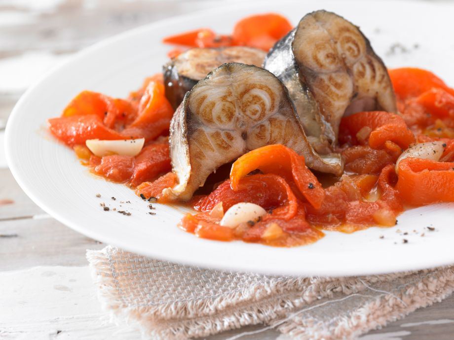 Braised Mackerel with Peppers - Braised Mackerel with Peppers - Majorcan classic with special qualities