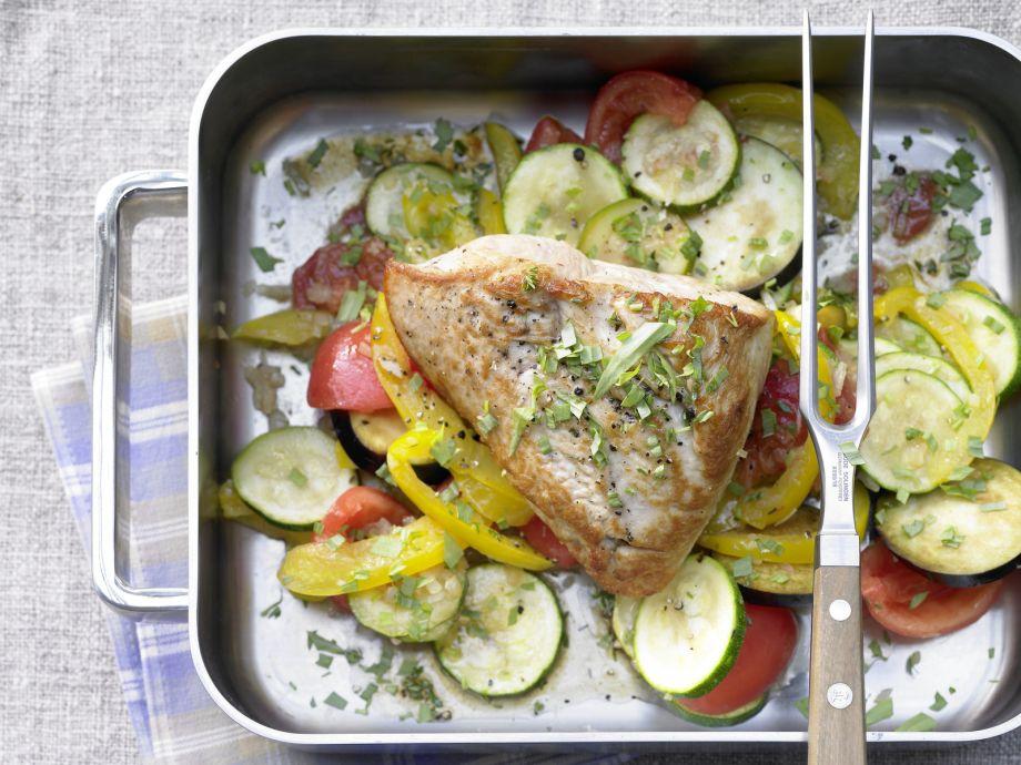 Braised Turkey Breast - Braised Turkey Breast - Fragrant with thyme, tarragon and lemon
