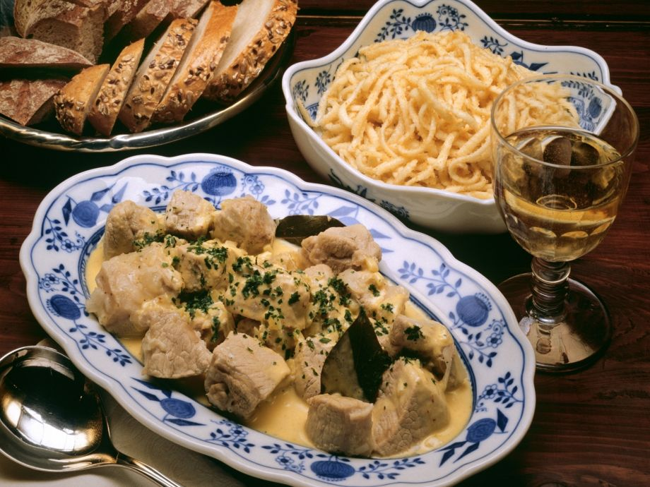 Braised Veal with White Wine sauce