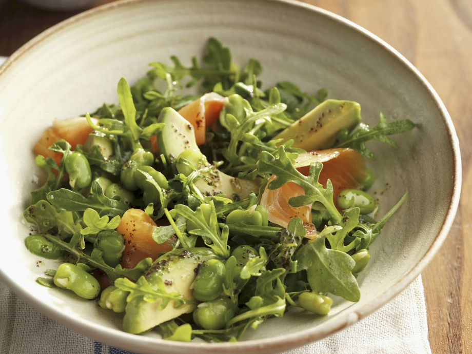 Broad Bean and Salmon Salad