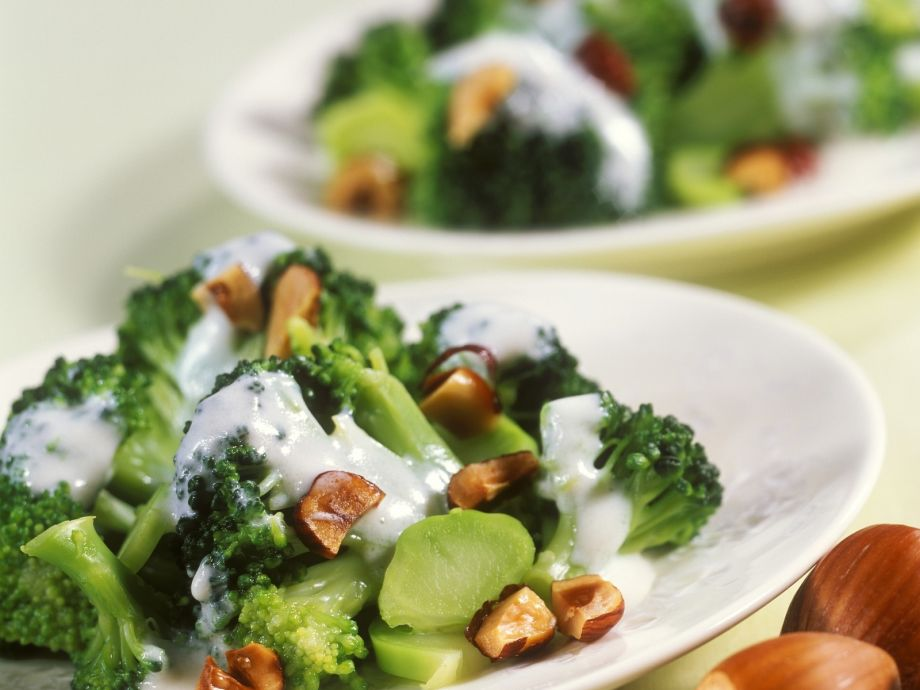 Broccoli and nut salad