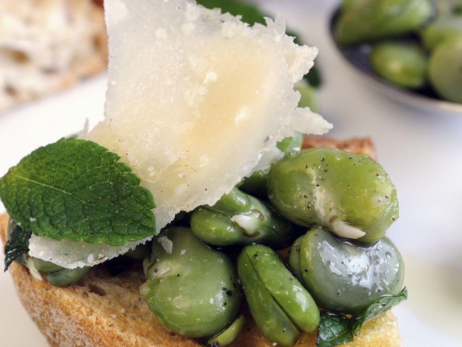 Bruschetta with Fava Beans
