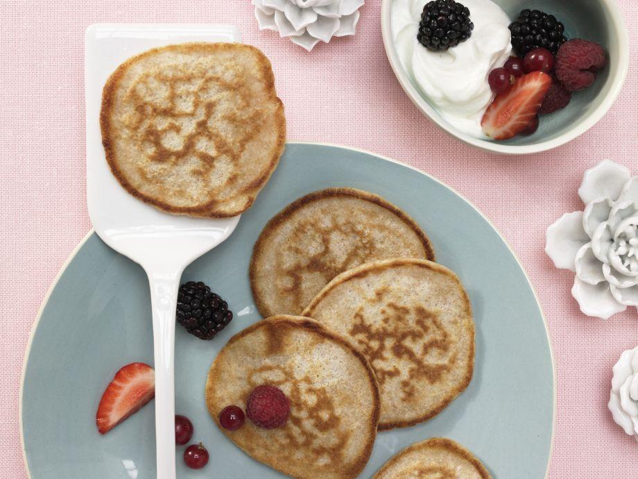 Buttermilk Whole-Grain Pancakes - Buttermilk Whole-Grain Pancakes - Pancakes with Fresh Fruit Dream - No One Can Resist
