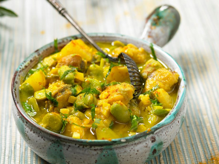 Carp and Green Beans Curry
