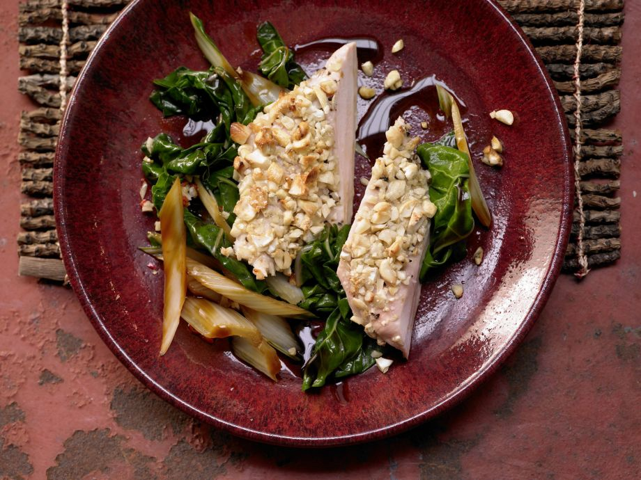 Cashew-Crusted Chicken Breast - Cashew-Crusted Chicken Breast - An appetizing combination of crunchy and spicy