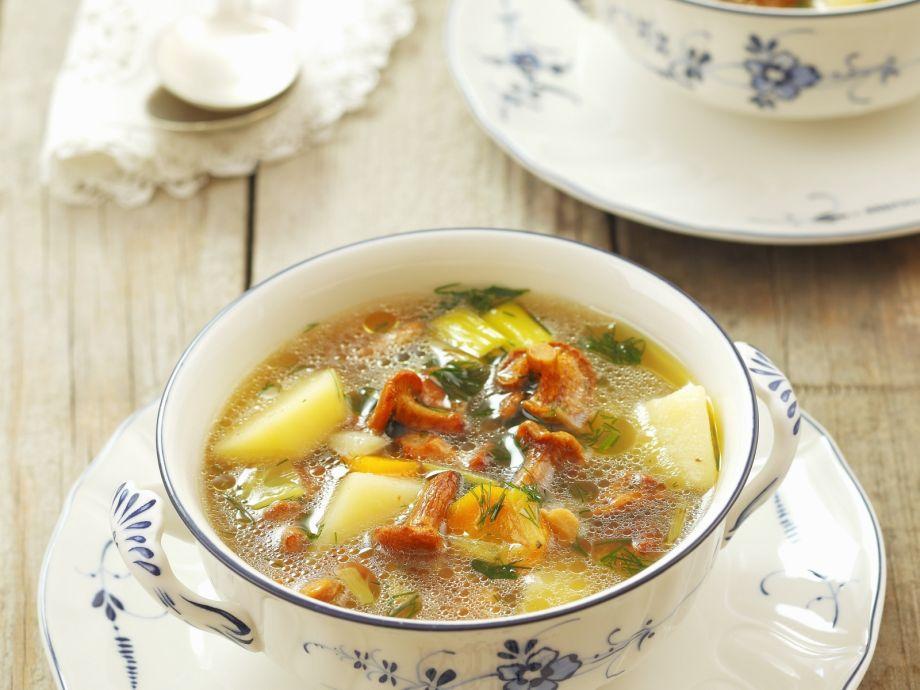 Chanterelle and Potato Soup