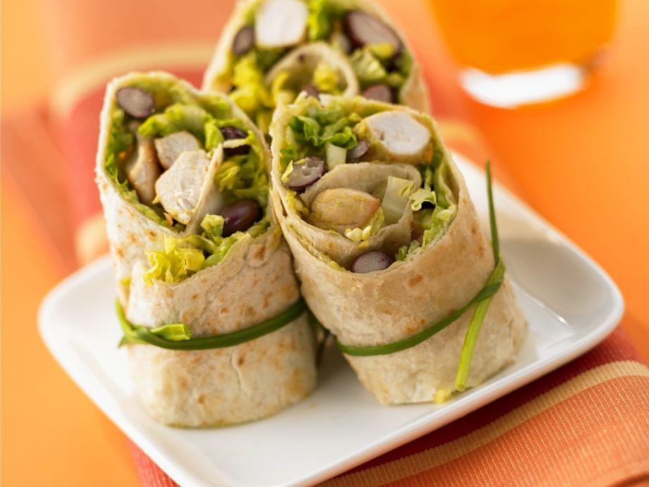 Chicken and bean tortillas