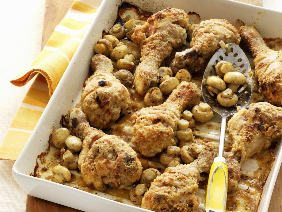Baked golden chicken dish