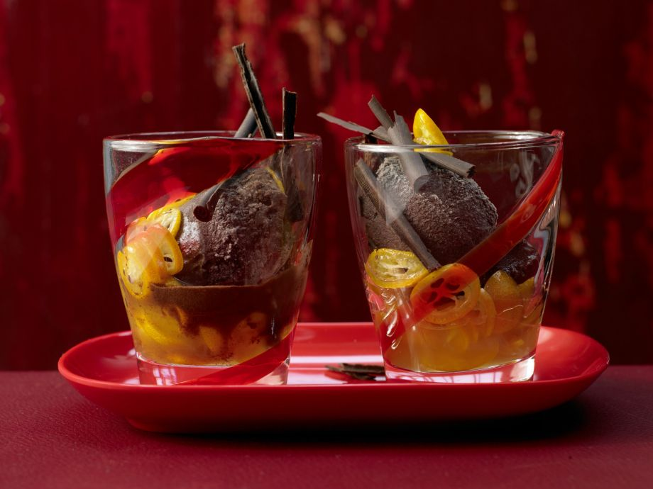 Chile Chocolate Sorbet - Chile Chocolate Sorbet - A seductively spicy dessert with notes of fire and ice
