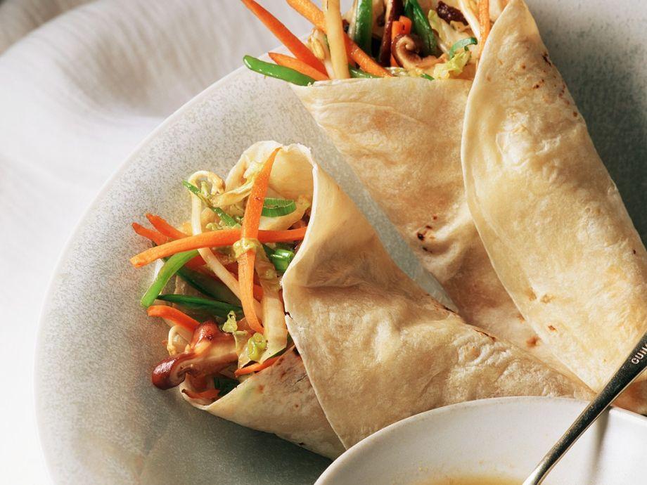 Chinese veggie pancake wraps