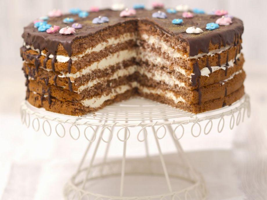 Chocolate cream layer cake