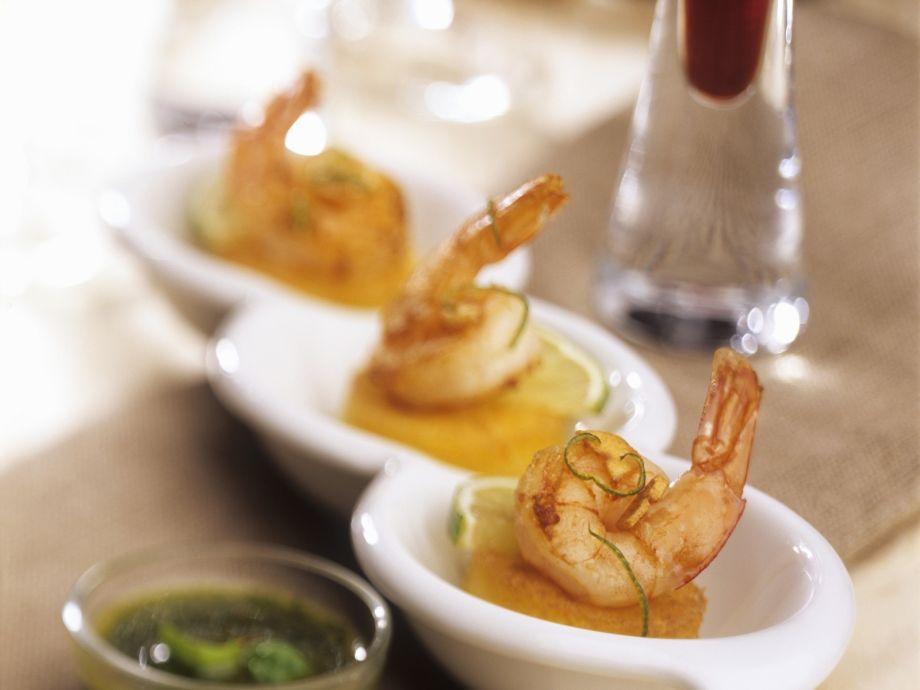 Cornmeal with shrimp