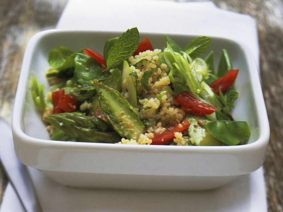 Couscous and Asparagus Salad with Mint - Couscous and Asparagus Salad with Mint - Crisp and vernal: simply delicious!