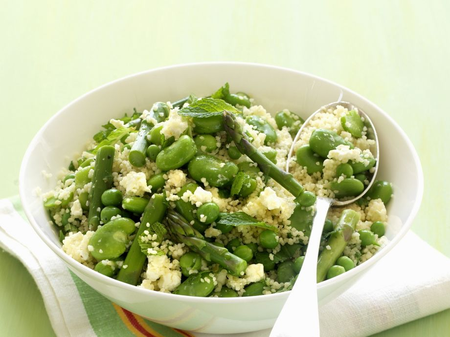 Couscous with Beans and Peas - Couscous with Beans and Peas - Green and really healthy!