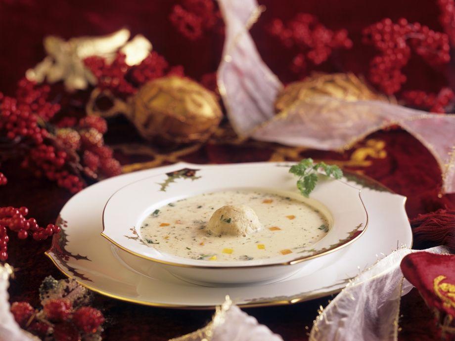 Christmas Soup.Creamy Christmas Goose Soup With Dumplings