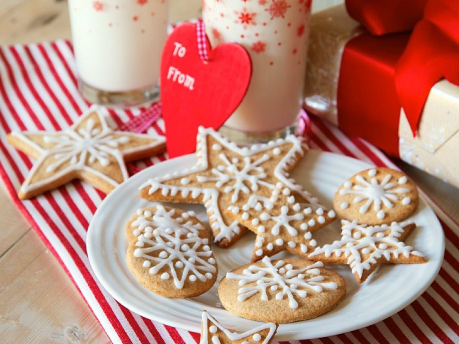 Decorated Christmas Cookies.Decorated Christmas Biscuits
