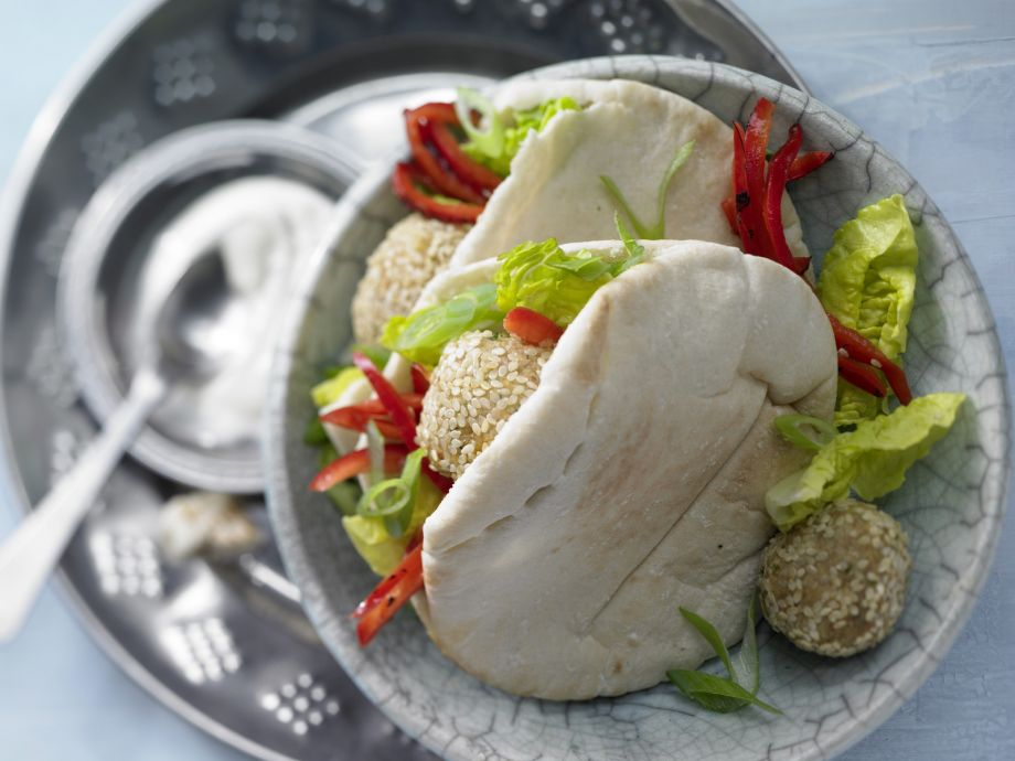 Falafel Pita Pockets - Falafel Pita Pockets - Fast food at its finest - Middle Eastern style