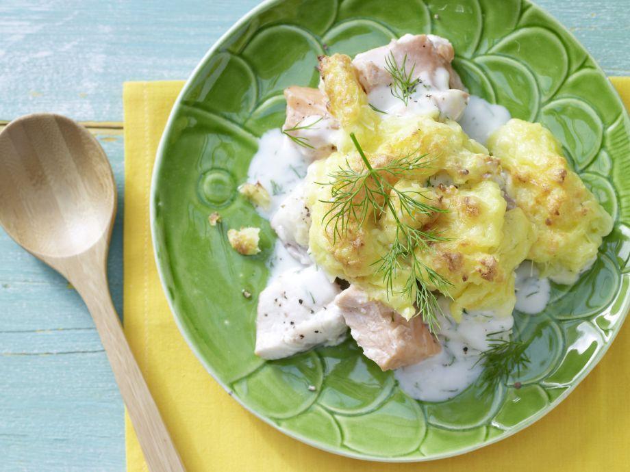 Fish and Mashed Potato Casserole - Fish and Mashed Potato Casserole - Hidden flavors within are a delicious surprise