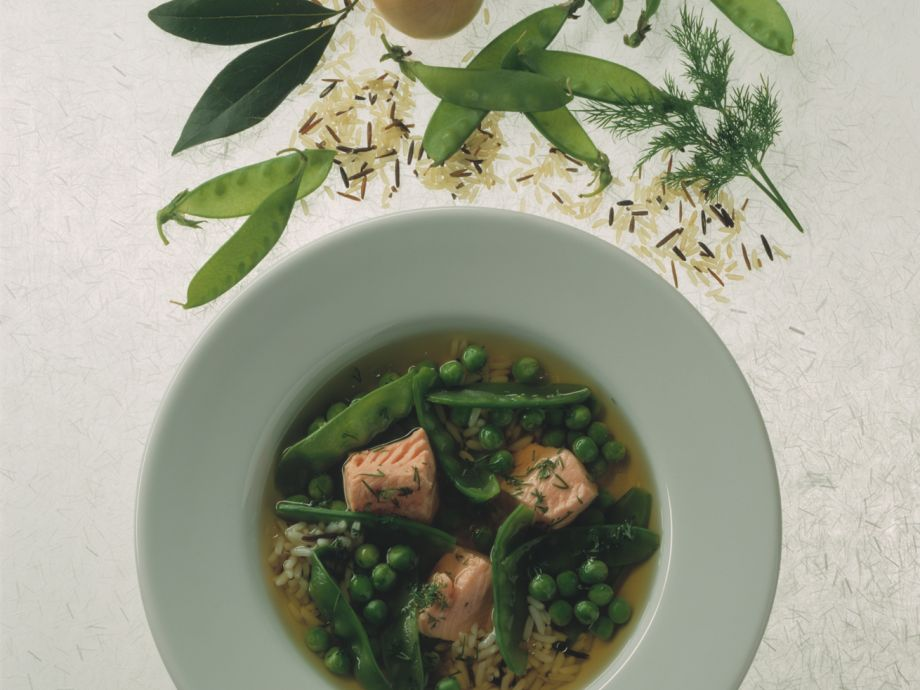 95dfad953f97 Fresh pea soup with steelhead trout Recipe
