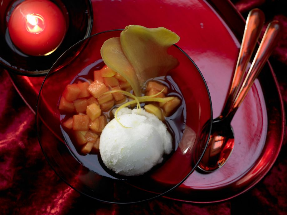 Ginger-Citrus Sorbet - Ginger-Citrus Sorbet - Light sorbet with an exotic touch