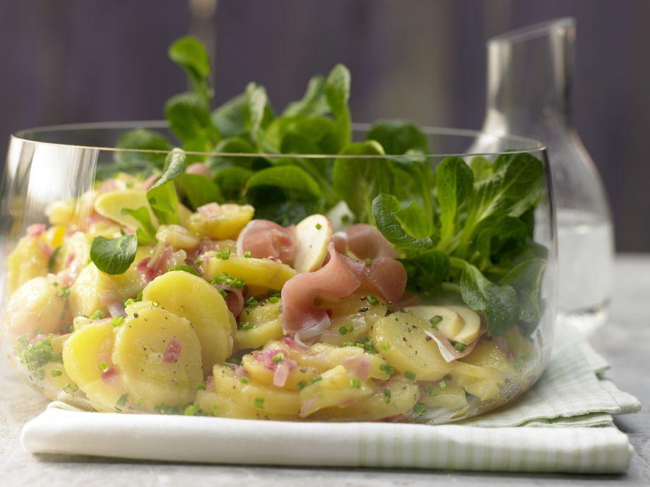 Green Potato Salad - Rustic, easy potato salad without mayonnaise