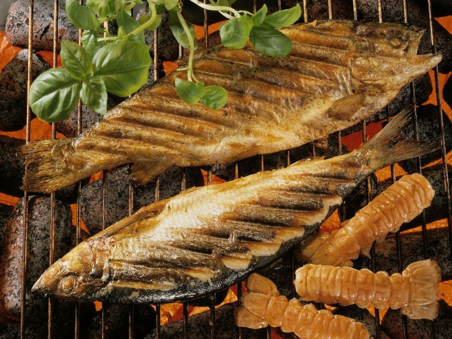 Grilled marinated herring