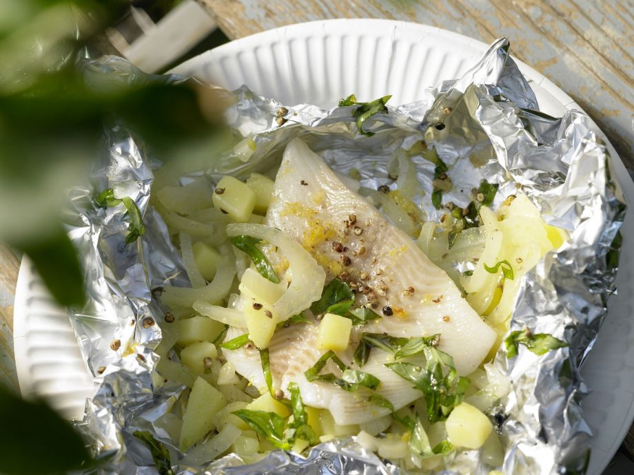 Halibut Packets - Halibut Packets - Cooking the fish in foil makes it wonderfully moist and aromatic