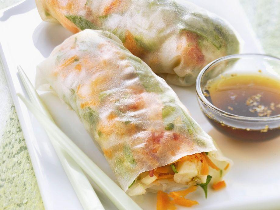 Healthy seafood nems Recipe | ...