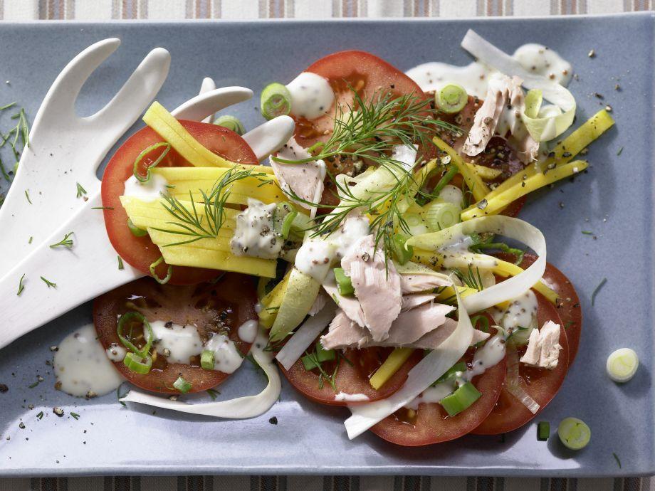 Tuna Salad - Tuna Salad - Beautifully colorful, beautifully crisp and delicious!