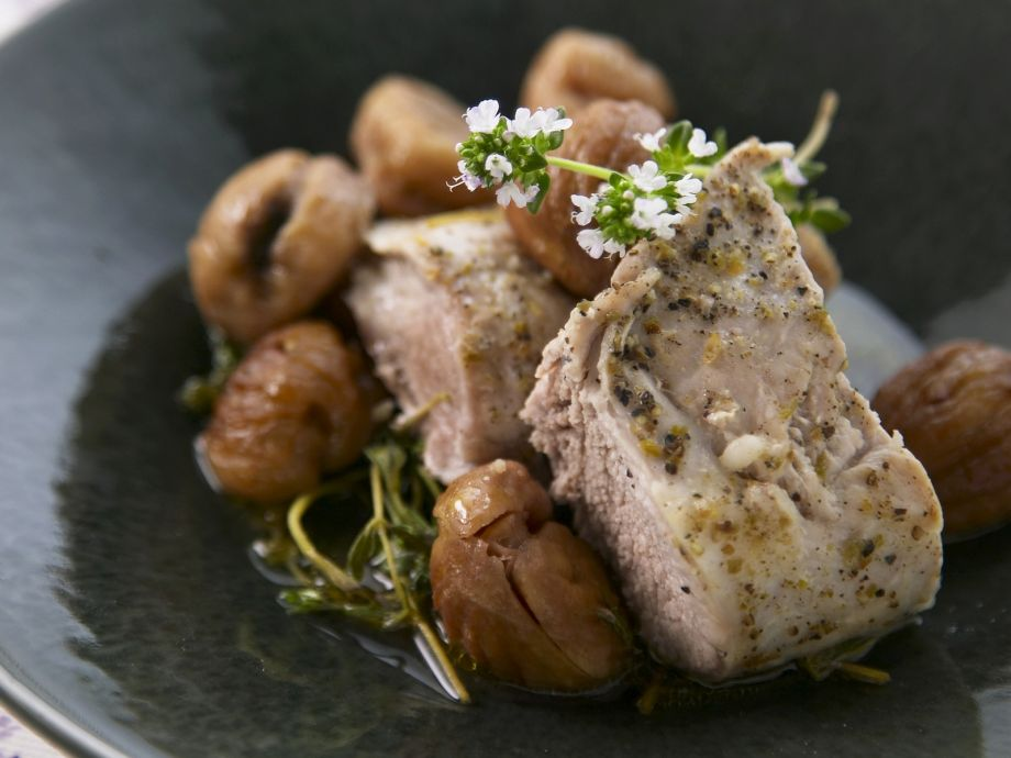 Herb Roasted Veal Fillet with Chestnuts
