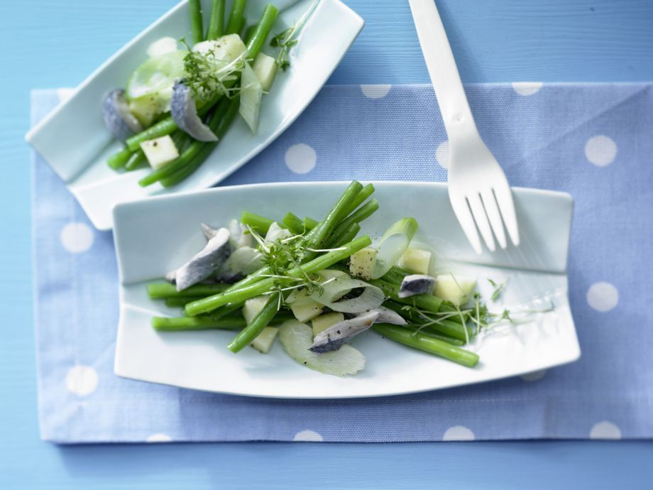 Herring-Green Bean Salad - Herring-Green Bean Salad - Refreshing and satisfying, and not only in the evening!
