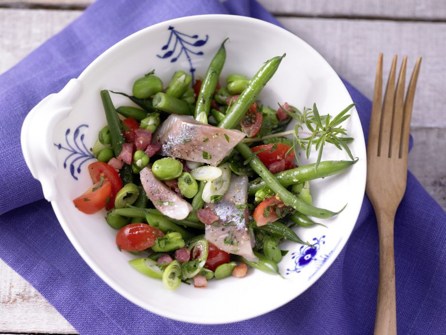 Herring Salad with Beans - Herring Salad with Beans - A delicious, satisfying salad that is substantial enough to serve as a main course