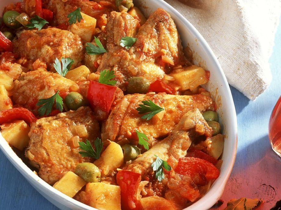 Iberian chicken bake