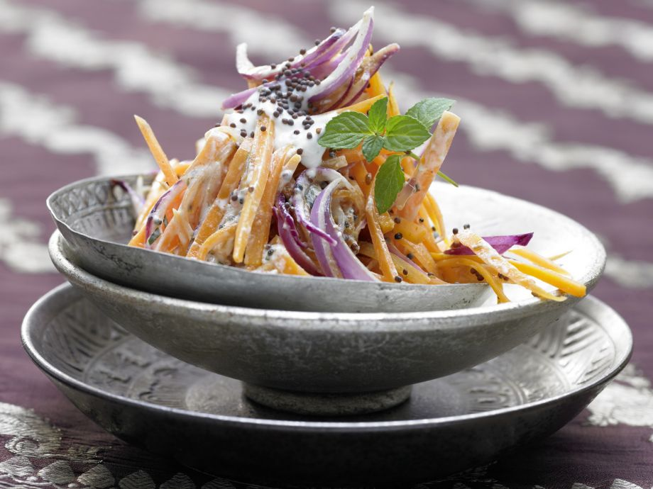 Indian Carrot Salad - Indian Carrot Salad - Indian Style Carrot Salad in a Creamy Yogurt Sauce