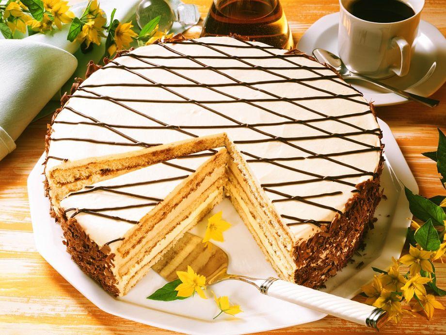 Irish coffee cream cake