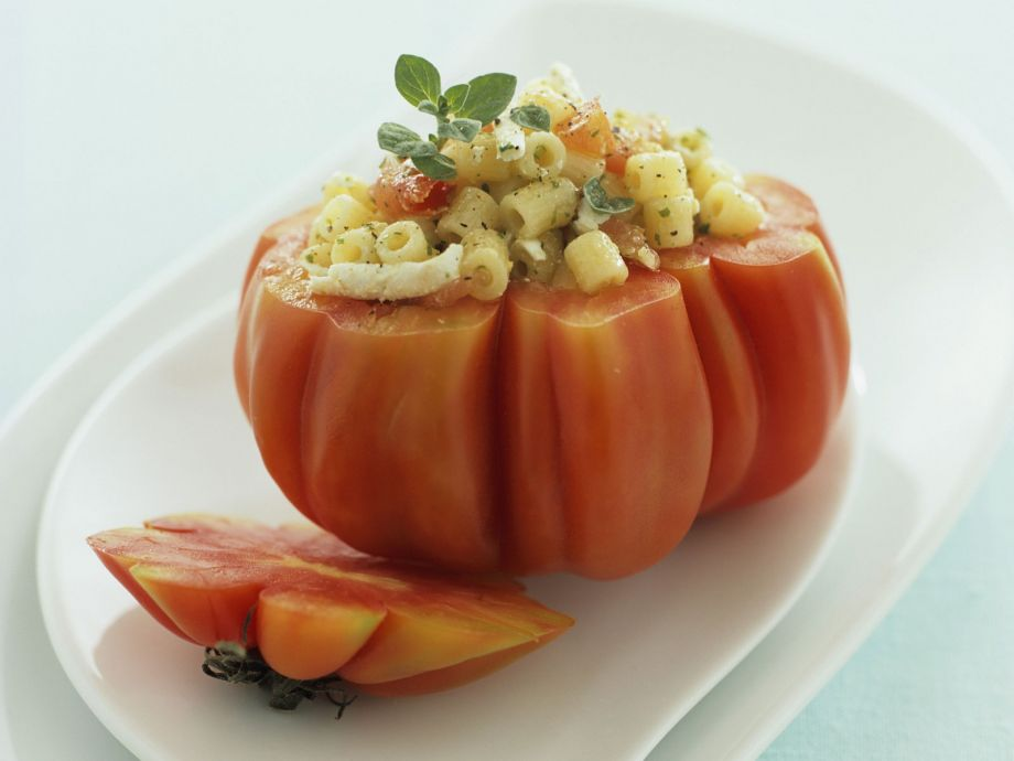 Large filled tomatoes