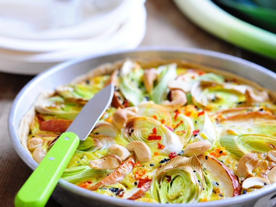 Leek and Apple Quiche
