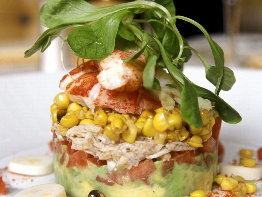 Lobster and corn tian