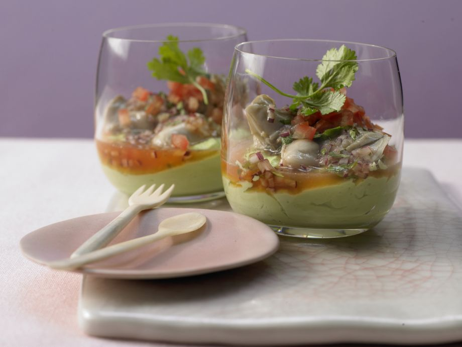 Marinated Oysters in Avocado Cream - Marinated Oysters in Avocado Cream - Extraordinarily noble in every respect